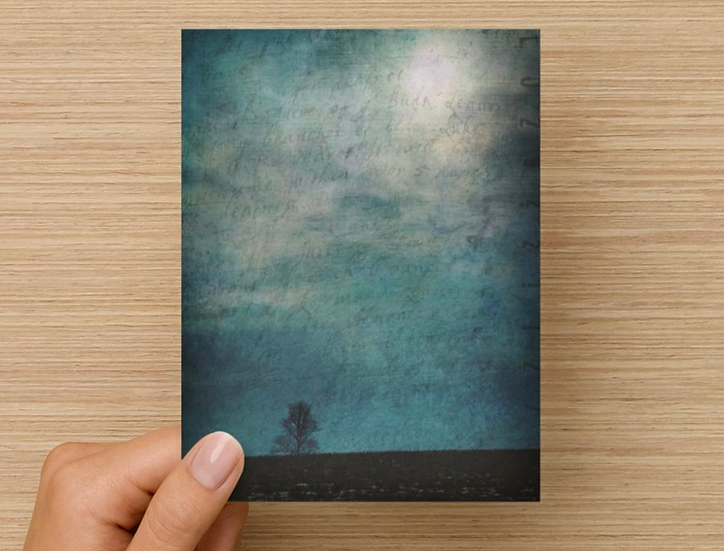 Lonely Tree Notecard (Pack of 5)