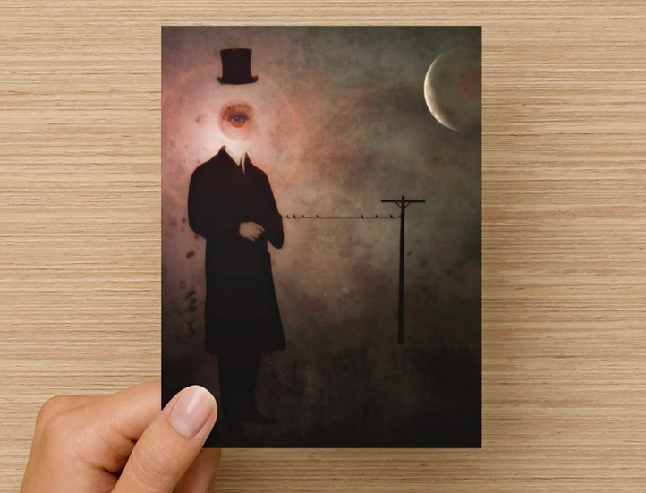 Mysterious Stranger Note Card (Pack of 5)