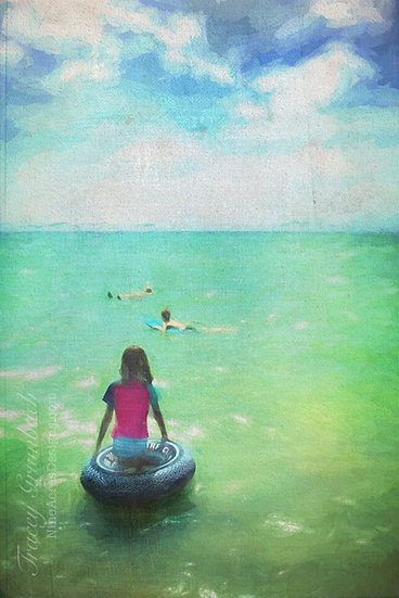 """""""Into the Sea"""" Matted Print (16"""" x 12"""")"""