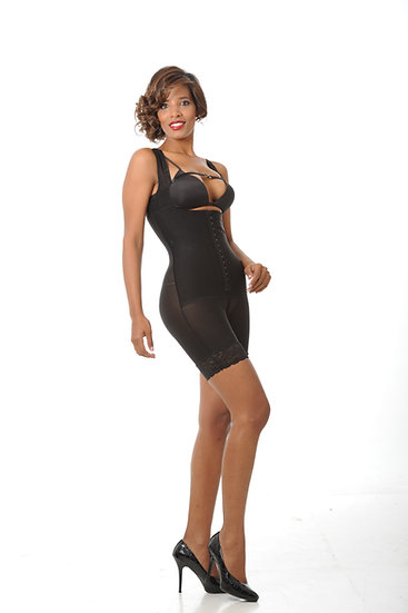 7003 - HALF LEG BODY SHAPER - BLACK