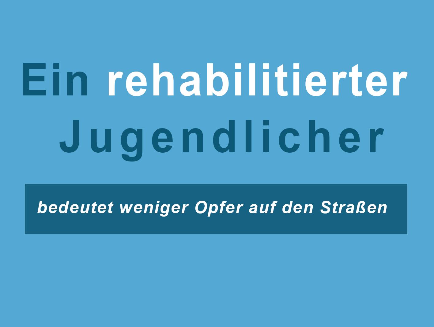 Ein rehabilitierter Jugendlicher DE