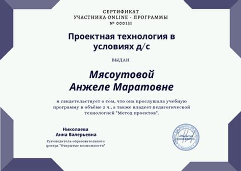 Сертификат участника online - ПРОГРАММЫ