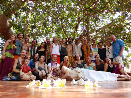 "Laughter Yoga Workshop ""LAUGHING BUDDHAS"" in Kudle Beach, Gokarna, India."
