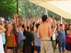 Laughter Yoga in Zorba Festival
