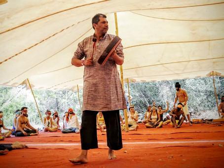 Laughter Yoga Workshop in Festival Homenaje a la Tierra 2015, Spain.