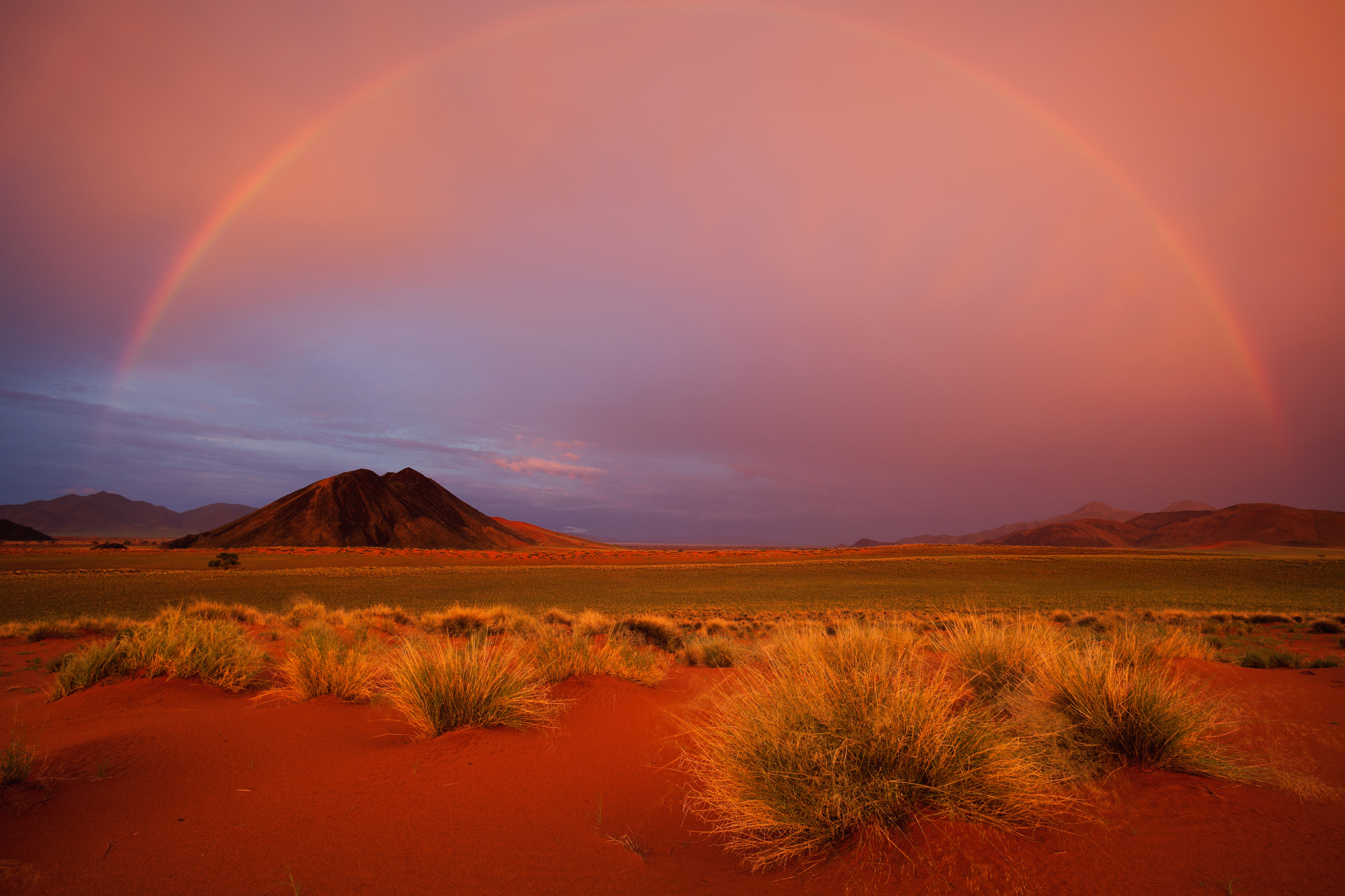 Rainbow over the Namib