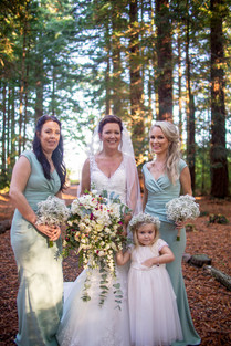Cascading Bridal Bouquet, Bridesmaid bouquets & Flowercrown
