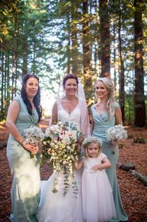 Cascading Bridal Bouquet, Bridesmaid bouquets & Flowercrown