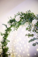 Large Floral Moon Arch