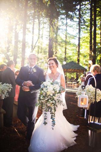 Bride & Groom- cascading bouquet