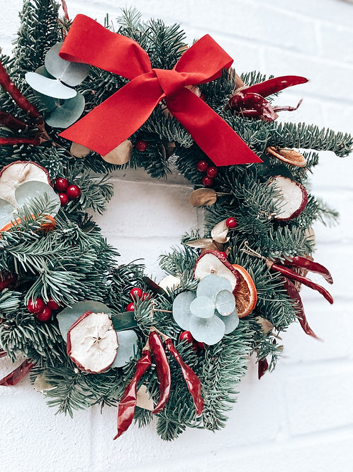 Traditional Red - Wreath Kit