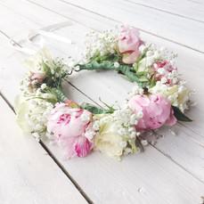 Peony & Rose Flowercrown