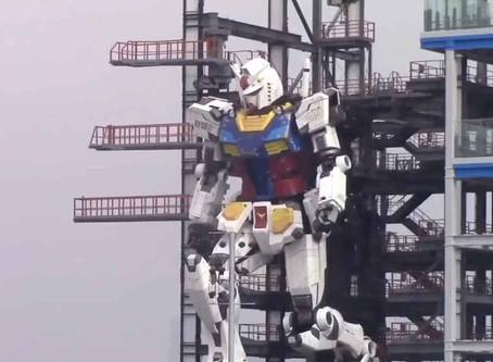 El RX-78 Gundam comienza sus pruebas de movimiento