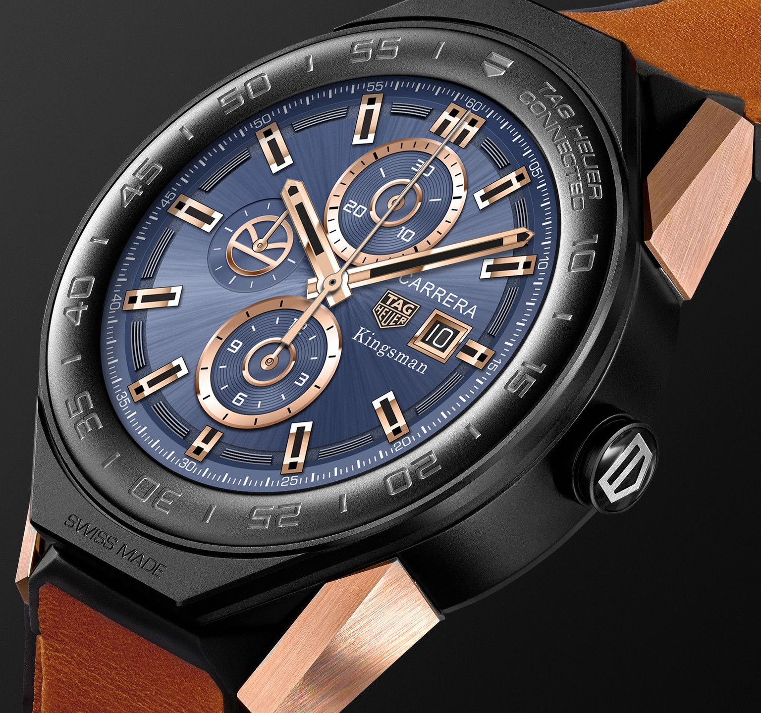 TAG Heuer Connected Modular 45mm Ceramic And Leather Smart Watch