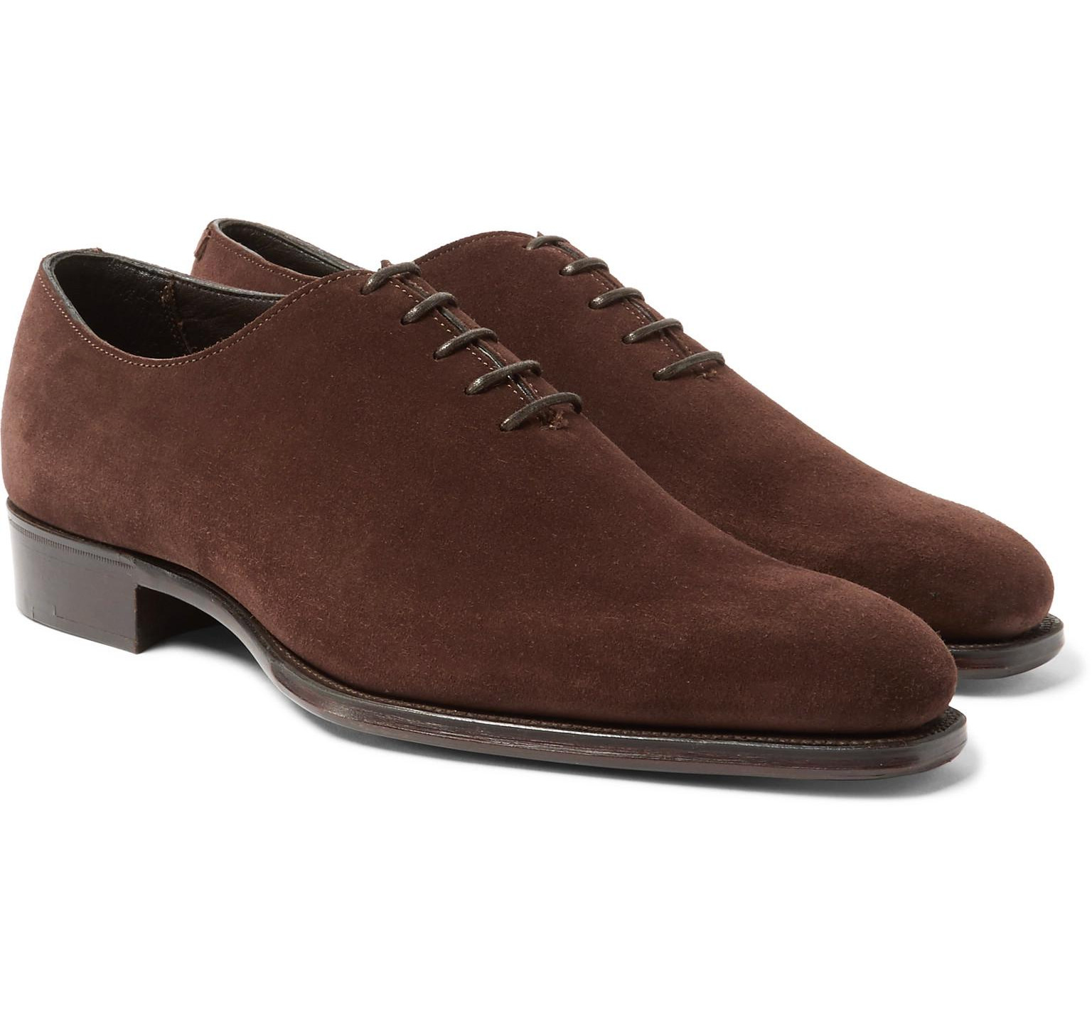 George Cleverley Whole-Cut Suede Oxford Shoes