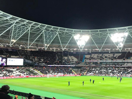 Supporting the Hammers - for a night
