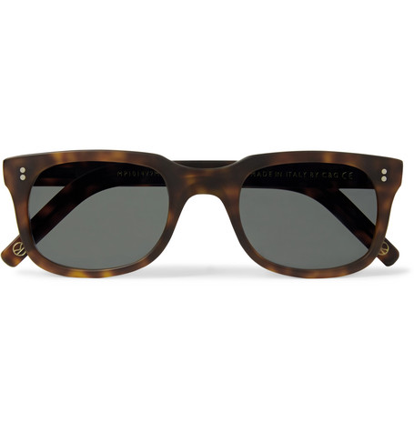 Cutler And Gross Square-Frame Matte Tortoiseshell Acetate Sunglasses