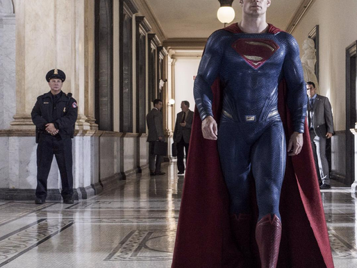 Superman vs the unwelcome moustache?