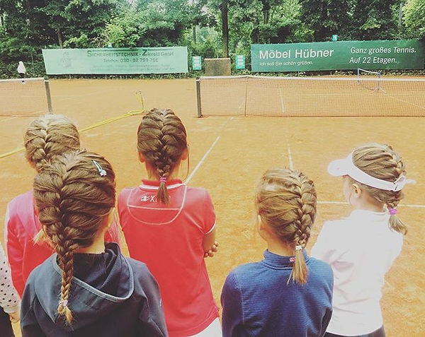 French braids to 👧tennis 🎾 girls! #ori