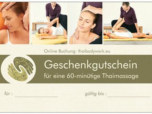Geschenkgutschein 60 Minuten Thaimassage