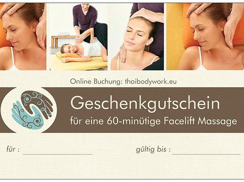 Geschenkgutschein 60 Minuten Facelift Massage