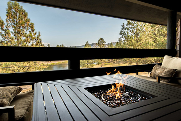 Each Room has a Private Patio & Firepit