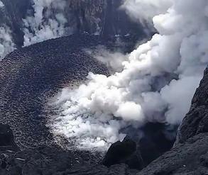 Volcano with cork