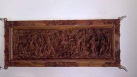 Holzrelief