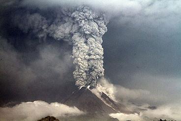 1963, der letzte Ausbruch des Agung