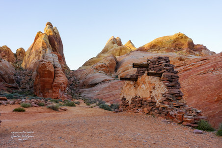 Old movie set in the Valley of Fire State Park