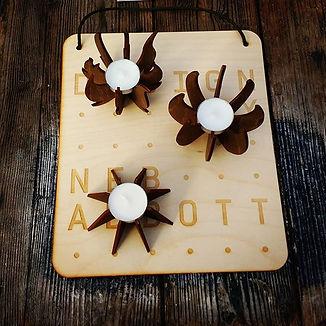 designbynebabbott, tea lights at Alty Market.