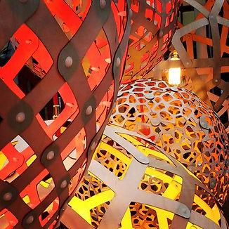 designbynebabbott, lampshade cluster.