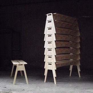 designbynebabbott, Geffrey Stacking Bench.