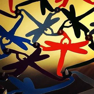designbynebabbott, Dragonfly in polypropylene detail.