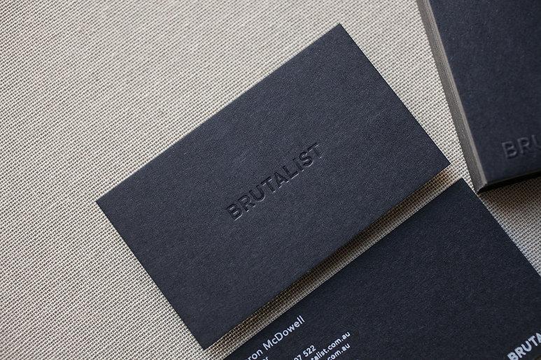 printed by Stitch Press | stitchpress.com.au | blind deboss business card