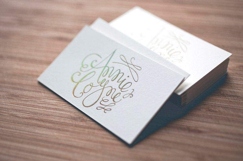 printed by Stitch Press | stitchpress.com.au | holographic gold foil business card