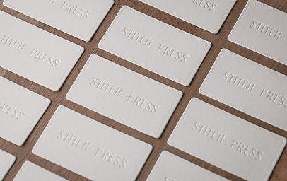 foiling business card, stitch press business card, blind deboss, emboss business card, Melbourne letterpress, Sydney letterpress, Queensland letterpress, fine printing