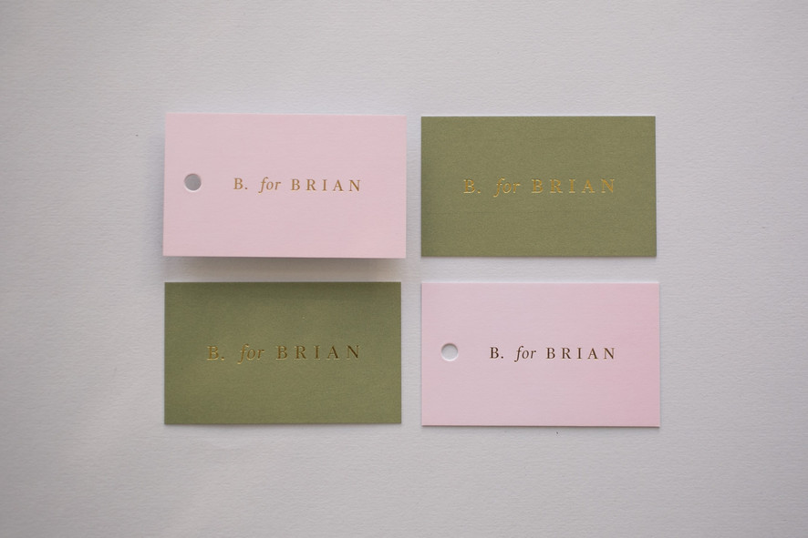 B. for Brian business cards