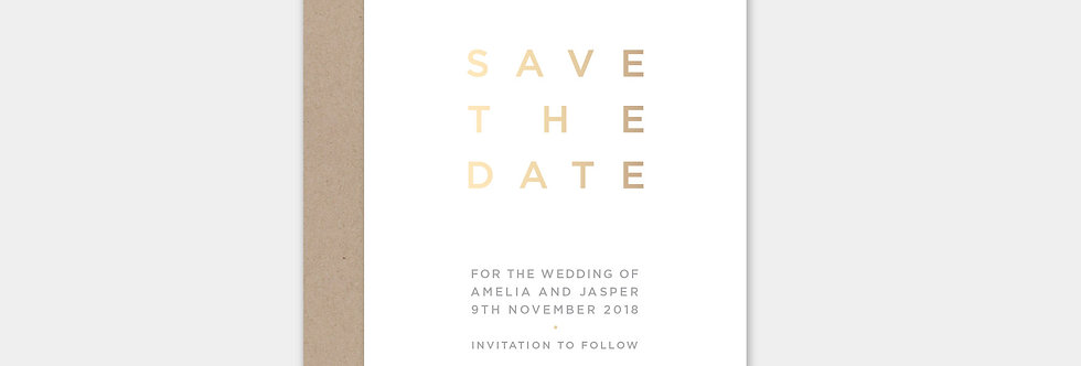 SAVE THE DATE no.7012 letterpress & foil-press