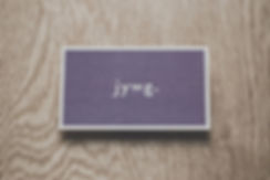 JYWG. business card white foil-press
