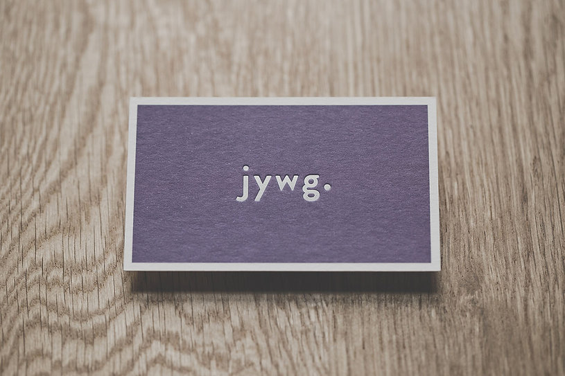 JYWG. business card white foil-press