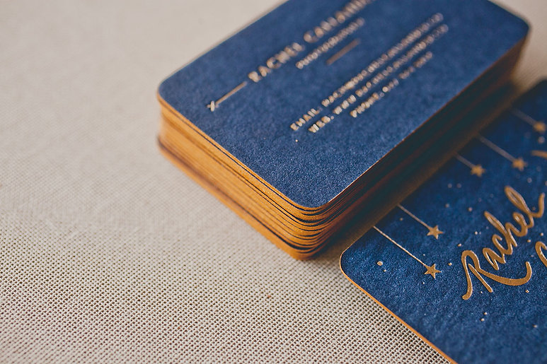 printed by Stitch Press | stitchpress.com.au | matte gold foil on navy print with gold edge painting