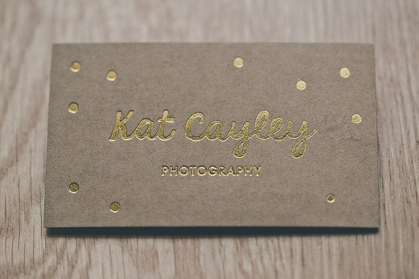 Kate Cayley | kraft card | gloss gold foil-press | edge painting