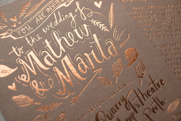 printed by Stitch Press | stitchpress.com.au | copper foil on kraft card