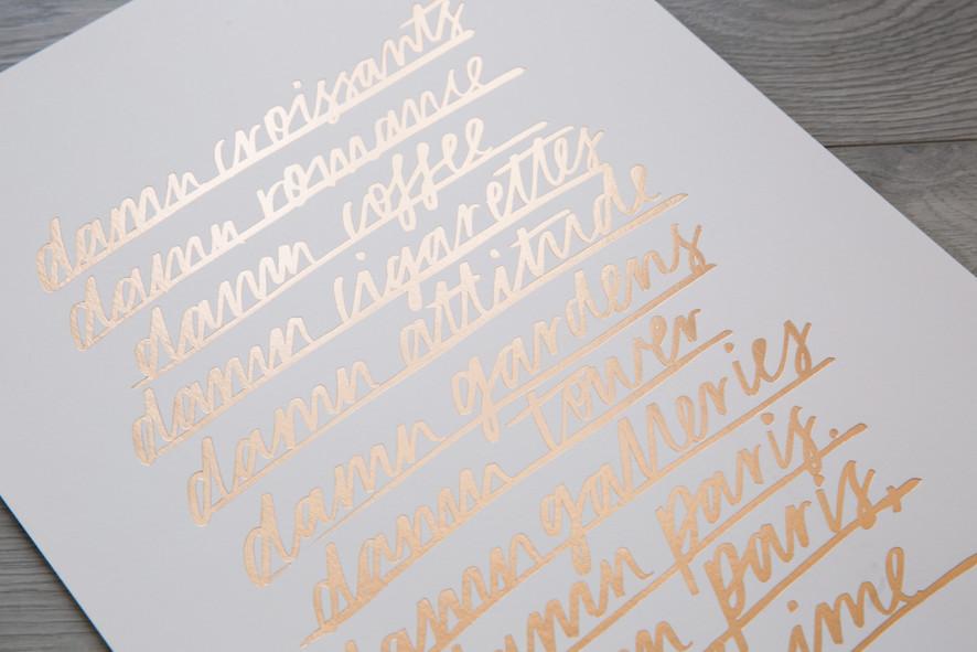 JASMIN DOWLING Paris print