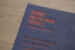George McCullough   letterpress business card