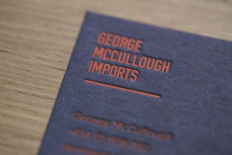 George McCullough | letterpress business card