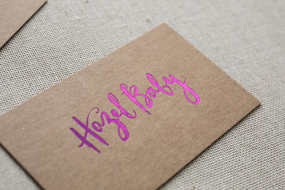 Hazel Baby business cards