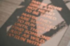 amanda & christian invitation   copper foil-press