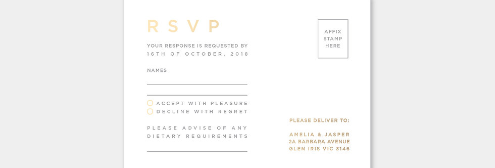 RSVP no.7012 letterpress & foil-press